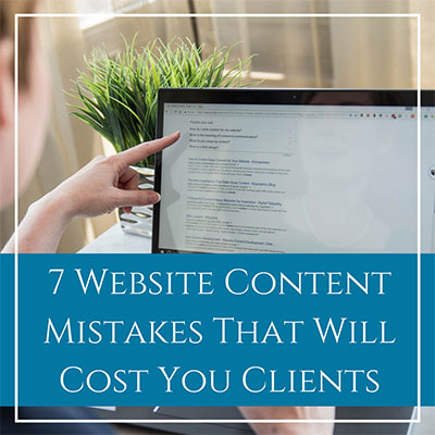 Website Content Writing That Will Cost You Clients